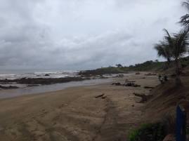 Wide, sandy beach
