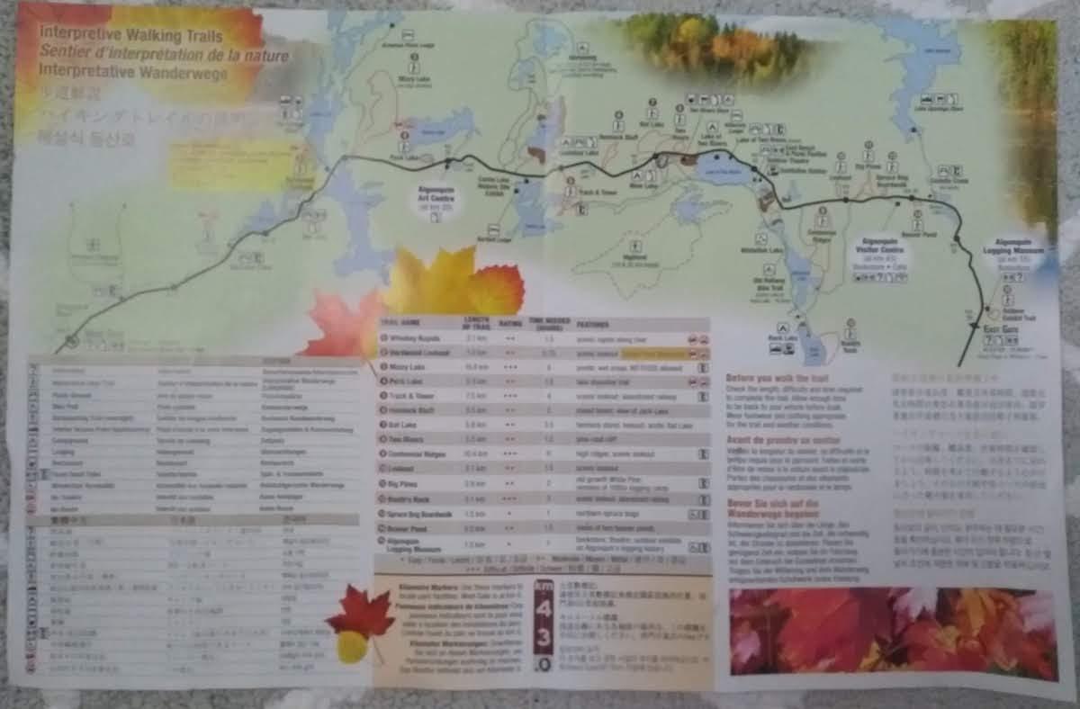 Algonquin trail map