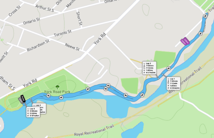 Eramosa River Trail parkrun route
