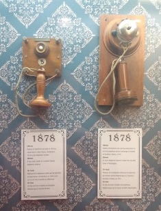 Old telephone sets from 1878