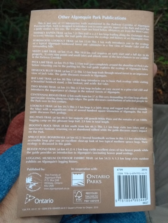 List of other Algonquin Park Publications