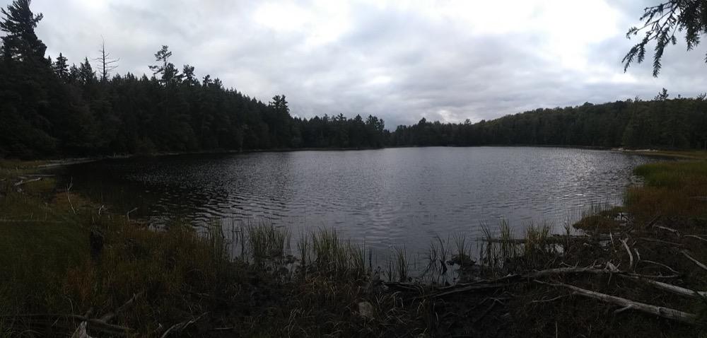 Grant Lake, a pleasing oval shape