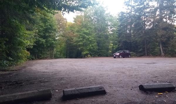 Nearly empty car park
