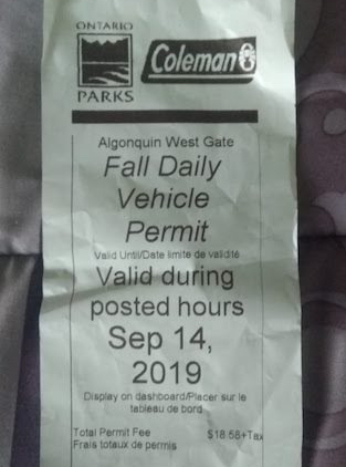 Algonquin vehicle permit