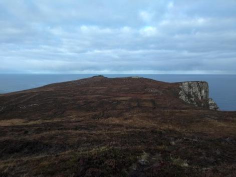 A peninsula sticks out