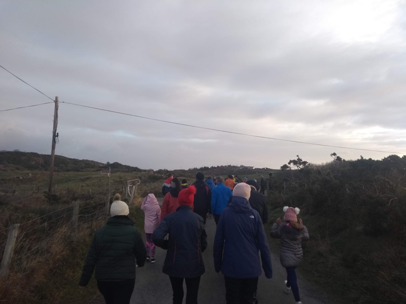Walkers and runners set off up the road