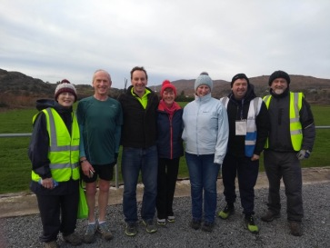 Volunteers, runners and walkers