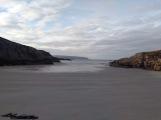 A white sandy beach