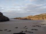 Deserted beach in the sun
