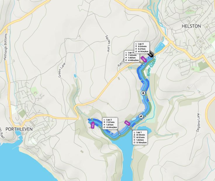 Penrose parkrun route