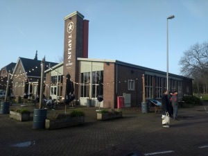 The Tapijn Brasserie building, with a tower