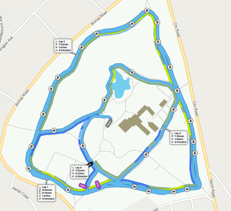 St Helens parkrun route