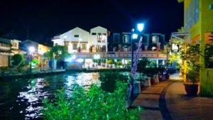 Pretty riverfront scene in Melaka.