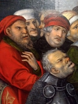 Detail of faces from an oil painting
